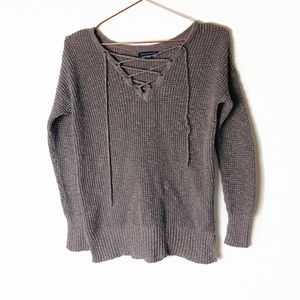 E GUC American Eagle Gray Knit Sweater XS